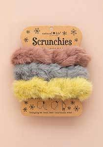 Set 3 Pink yellow Scrunchies