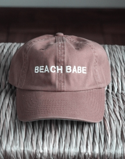 Beach Babe Embroidered Hat - Cognac