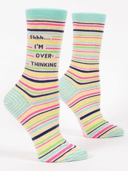 Blue Q W Socks Shhh...  I'm Overthinking
