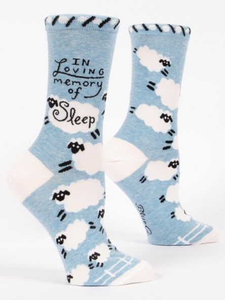 Blue Q W Socks In Loving Memory of Sleep