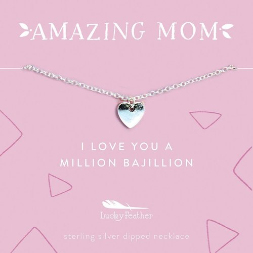 Amazing Mom Silver Necklace - I love you a Million
