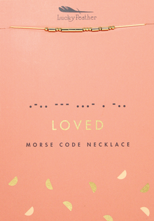 Morse Code Gold Necklace - Loved