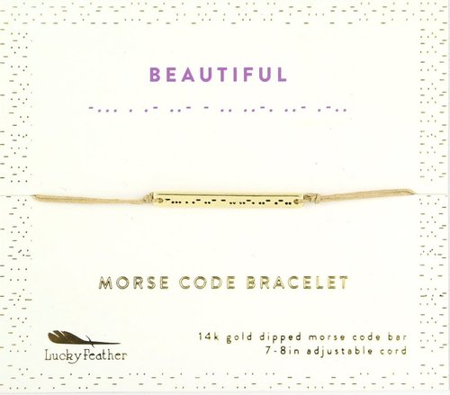 Morse Code Bar Bracelet - Beautiful