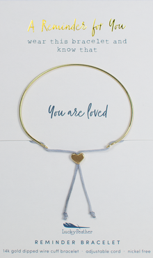 Reminder Gold Bracelet - Loved