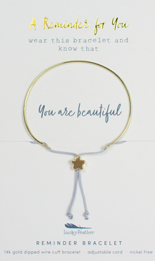 Reminder Gold Bracelet - Beautiful