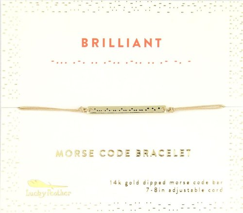 Morse Code Bar Bracelet - Brilliant