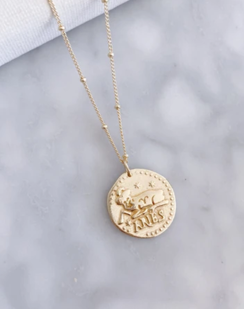 Zodiac Necklace Aries - 18K Gold Plated