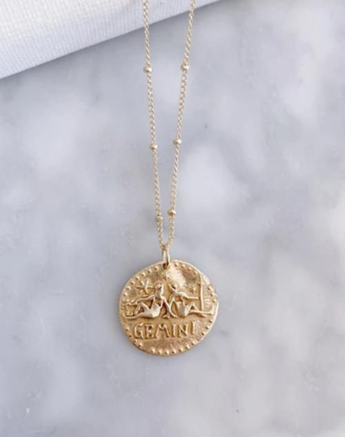 Zodiac Necklace Gemini - 18K Gold Plated