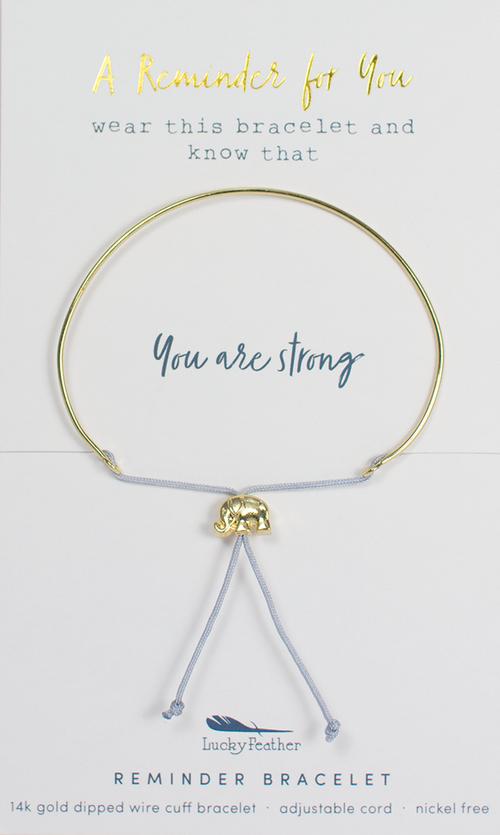 Reminder Gold Bracelet - Strong