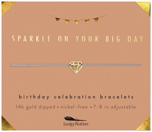 Birthday Celebration Gold Bracelet - Sparkly Birthday