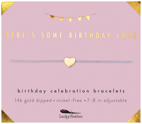 Birthday Celebration Gold Bracelet - Birthday Love