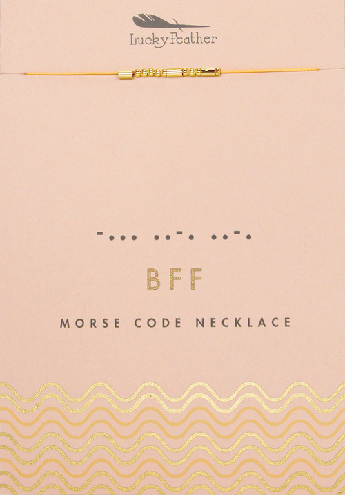 Morse Code Gold Necklace - BFF