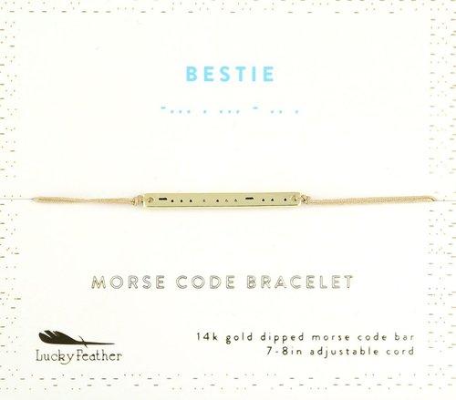Morse Code Bar Bracelet - Bestie