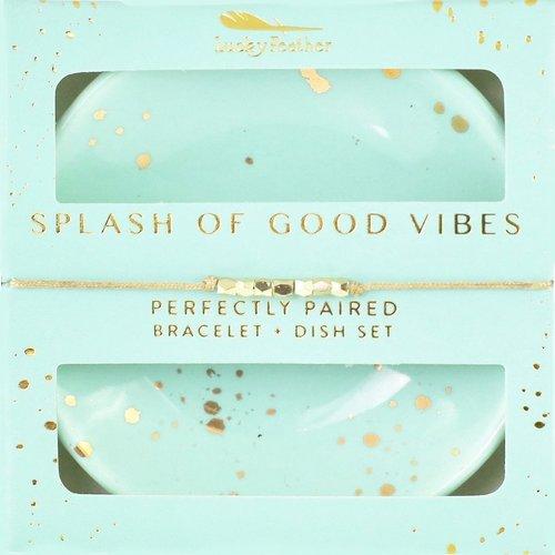 Bracelet + Dish Set Splash Of Good Vibes