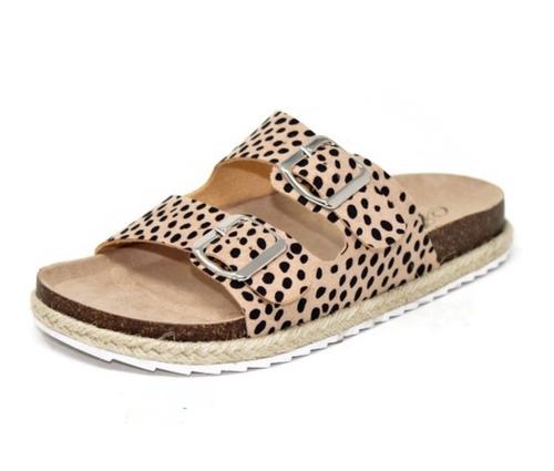 Cheetah Print Buckle Sandal