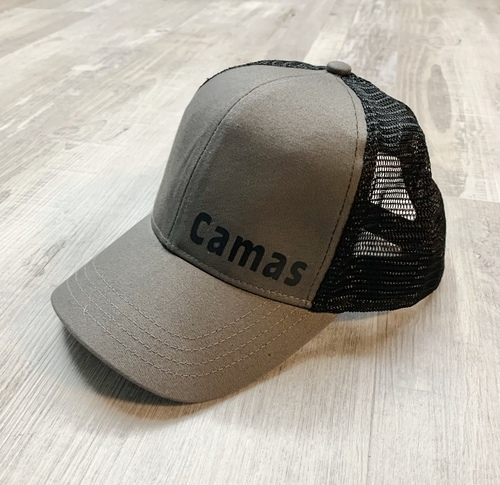 Hank Orange Gray Hat w/ Matte Black Camas