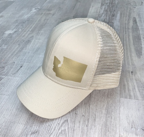 Hank Orange Cream Hat W/ Matte Gold WA