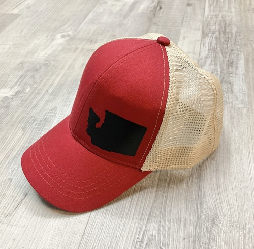 Hank Orange Red Hat W/ Black Matte WA