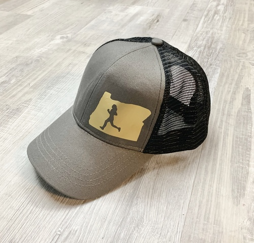 Hank Orange Gray Hat W/ Matte Gold Runner OR