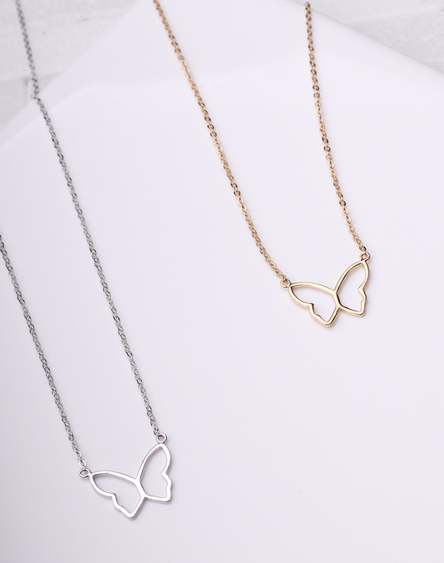 Butterfly Outline Necklace