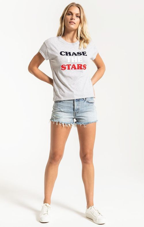 Chase The Stars Tee Grey