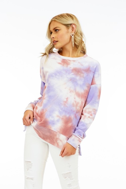 Sunset Tie Dye French Terry Pullover