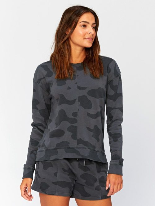 Effie Camo Printed Pullover Graphite