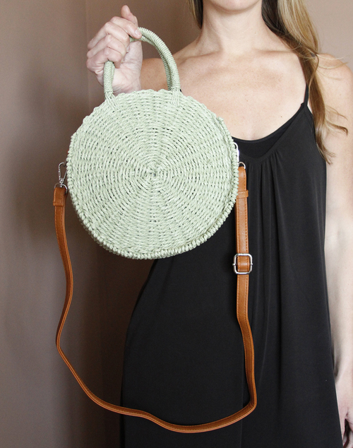 Rossi Round Bag- Moss