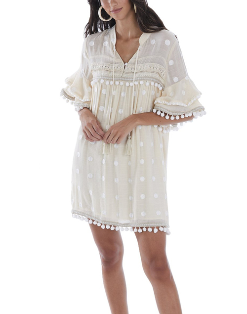 Pom Pom Vacation Dress