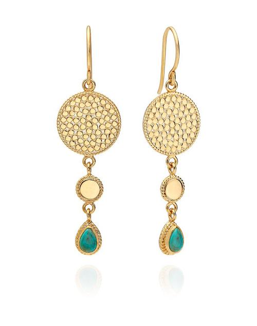 Turquoise Triple Drop Earring