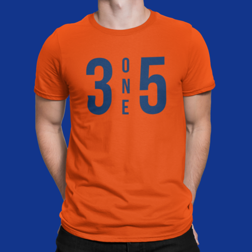 3 One 5 T-Shirt Orange/Navy
