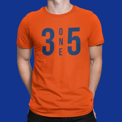 3 One 5 T-Shirt Orange/Navy
