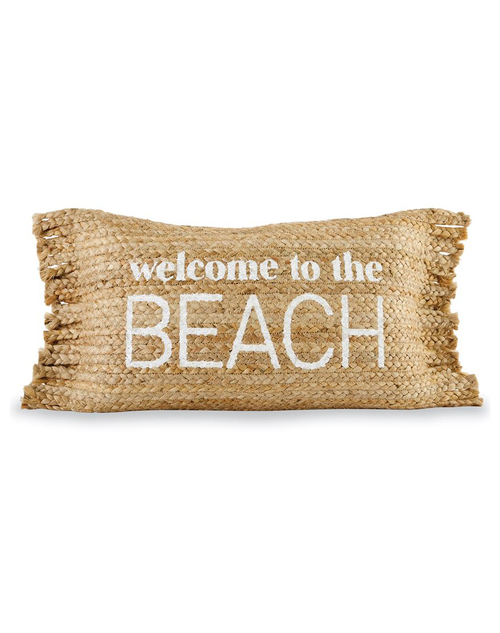 Beach Jute Fringe Pillow