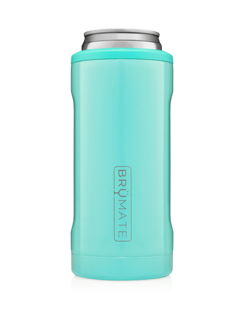 Hopsulator Slim 12oz - Aqua Blue