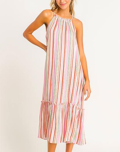 Fruiti Stripe Midi Dress