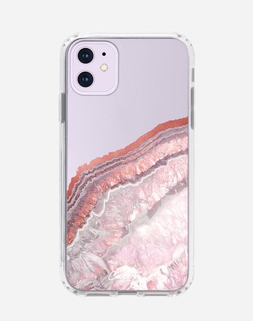 Rose Gold Agate iPhone Case