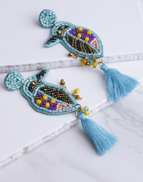 Birdie Beaded Earring