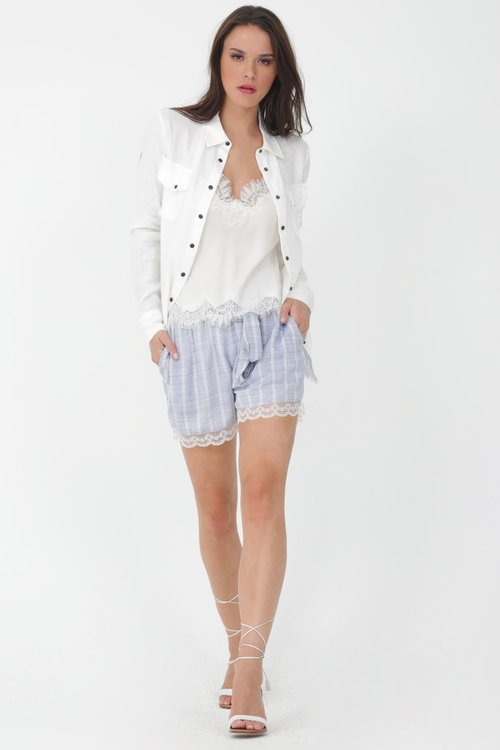 Linen Frayed Shirt