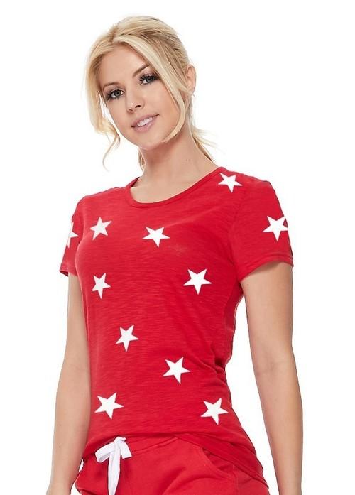 Cotton Slub Knit Star Tee