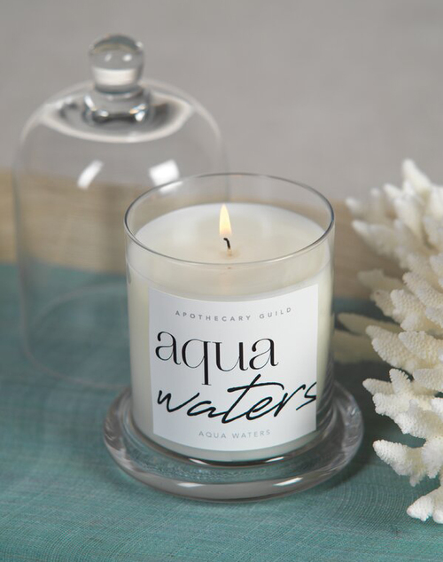 Aqua Waters Dome Jar Candle