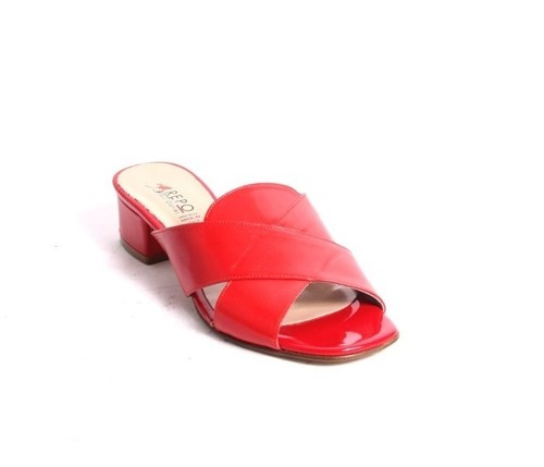 Red Leather / Patent / Slides Heels Sandals