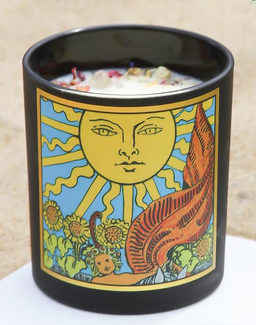 Sun Tarot Candle