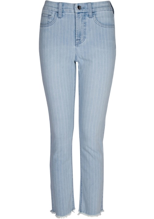 Jen7 Ankle Straight Pinstripe Denim