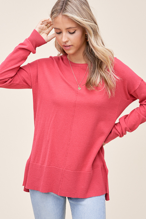 Rosewood Cela Center Seam Sweater