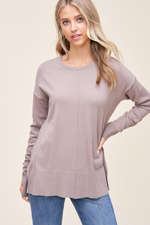 Mocha Cela Center Seam Sweater