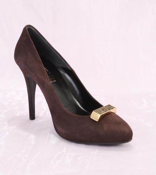Brown Suede Heel Pumps