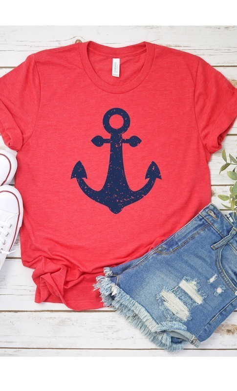 Navy Anchor Graphic Tee