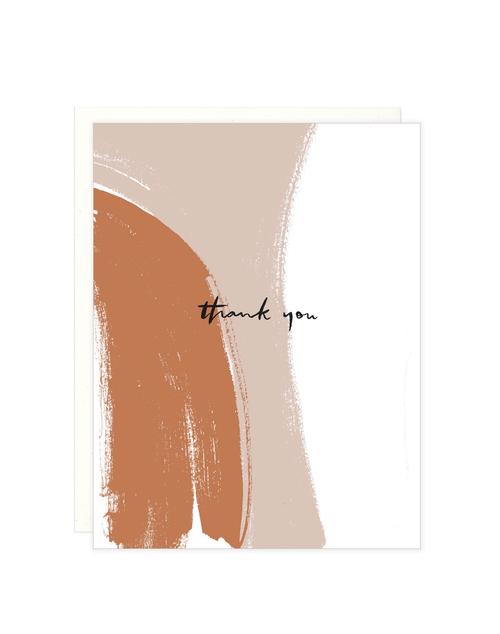 Thank You Brushstrokes Card