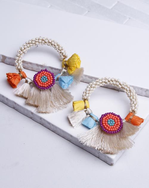 Fiesta Hoop Stud Earring