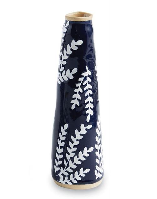Large Blue Bud Vase